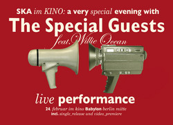 Flyer: The Special Guests – Konzert Kino Babylon (Vorn)