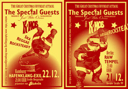 Flyer: Weihnachtskonzert K-Mob & The Special Guests in Berlin und Hamburg